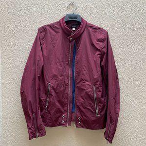 Diesel Burgundy Windbreaker Jacket Coat Medium